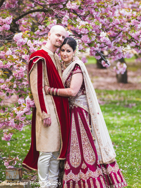 First Look in Mahwah, NJ Indian Fusion Wedding by Magic Flute Photo & Video