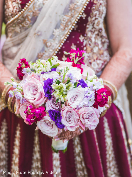 Bridal Bouquet in Mahwah, NJ Indian Fusion Wedding by Magic Flute Photo & Video
