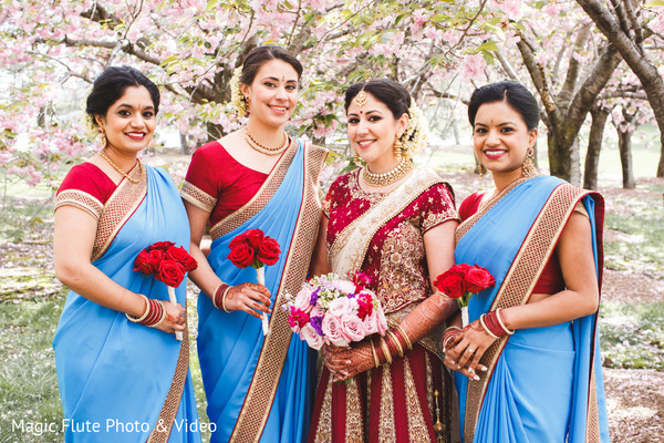 Bridal Party in Mahwah, NJ Indian Fusion Wedding by Magic Flute Photo & Video