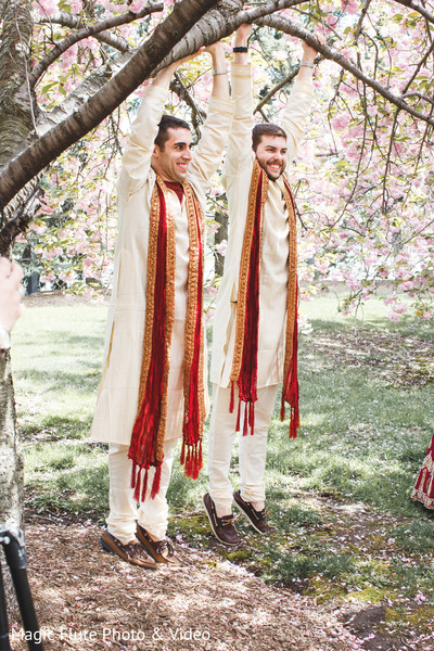 Groomsmen in Mahwah, NJ Indian Fusion Wedding by Magic Flute Photo & Video