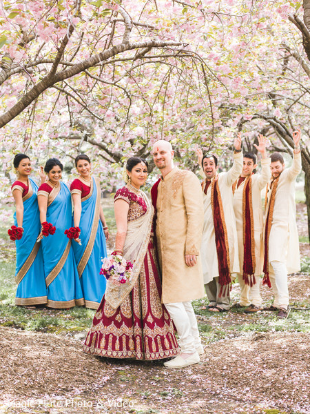 Wedding Party in Mahwah, NJ Indian Fusion Wedding by Magic Flute Photo & Video