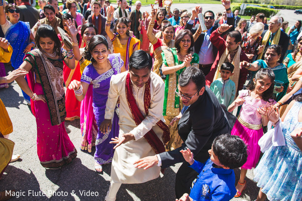 Baraat in Mahwah, NJ Indian Fusion Wedding by Magic Flute Photo & Video