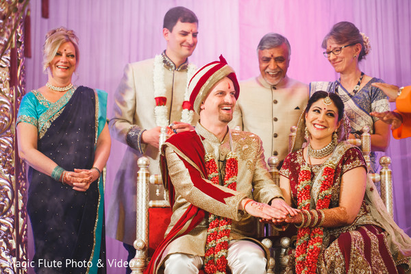Ceremony in Mahwah, NJ Indian Fusion Wedding by Magic Flute Photo & Video