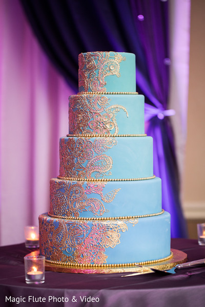 Wedding Cake in Mahwah, NJ Indian Fusion Wedding by Magic Flute Photo & Video