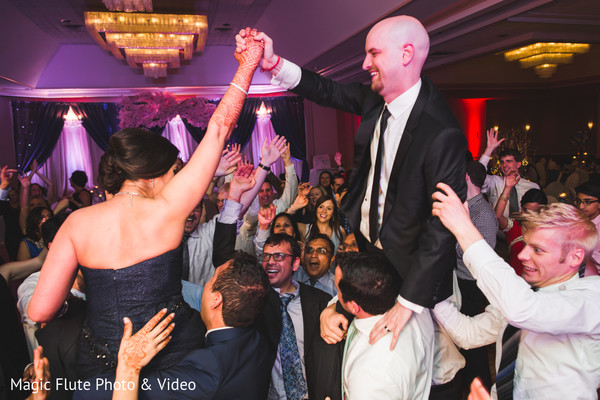 Reception in Mahwah, NJ Indian Fusion Wedding by Magic Flute Photo & Video