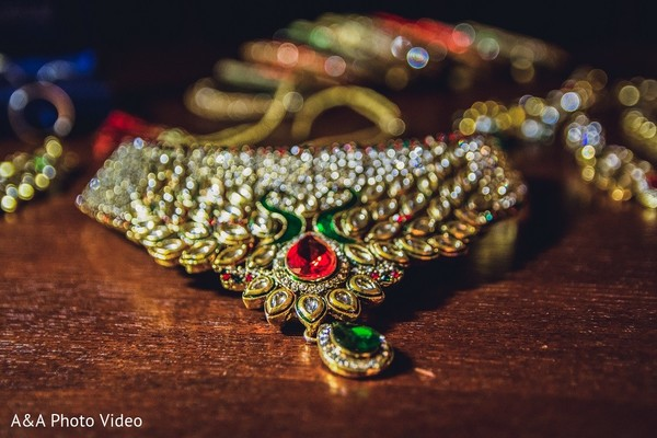 Bridal Jewelry in Parker, TX Indian Wedding by A&A Photo Video