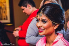 getting ready,indian bride getting ready,hair and makeup,updo,makeup