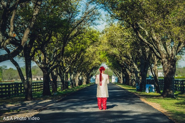 First Look in Parker, TX Indian Wedding by A&A Photo Video