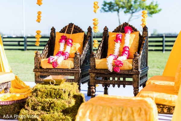 Ceremony Decor in Parker, TX Indian Wedding by A&A Photo Video