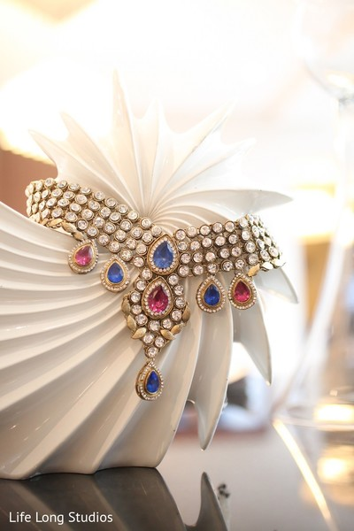 Bridal Jewelry in Styled Indian Wedding Inspiration Shoot by Life Long Studios