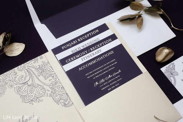 Stationery in Styled Indian Wedding Inspiration Shoot by Life Long Studios
