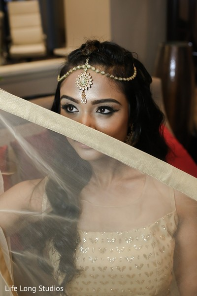 Jewelry & Makeup in Styled Indian Wedding Inspiration Shoot by Life Long Studios