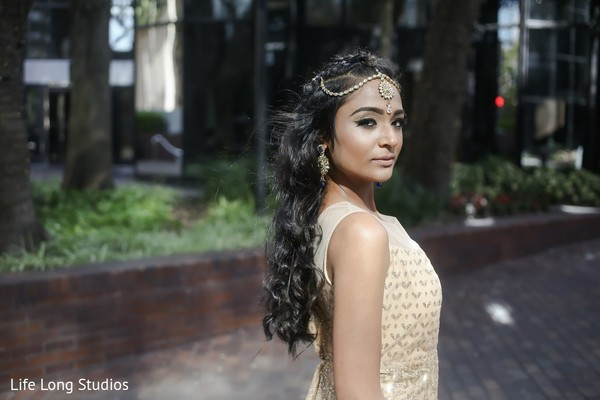 Hair & Makeup in Styled Indian Wedding Inspiration Shoot by Life Long Studios