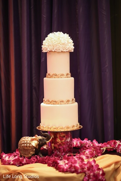 Wedding Cake in Styled Indian Wedding Inspiration Shoot by Life Long Studios