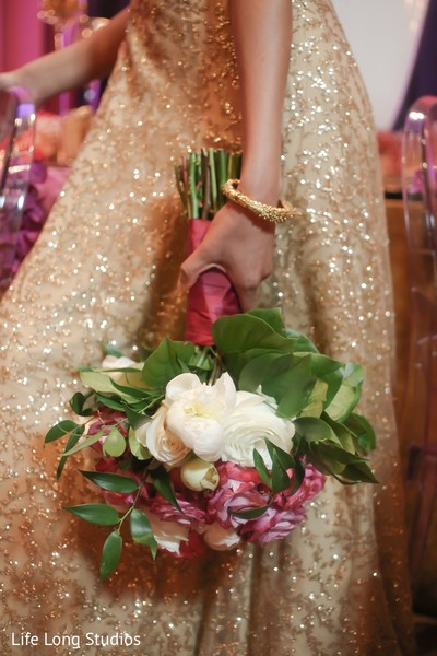 Bouquet in Styled Indian Wedding Inspiration Shoot by Life Long Studios