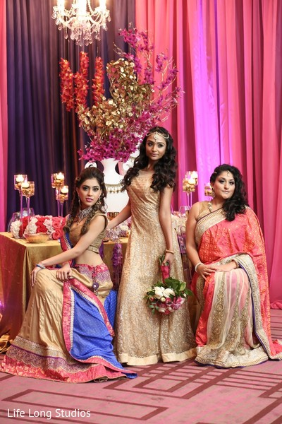 Reception Portait in Styled Indian Wedding Inspiration Shoot by Life Long Studios