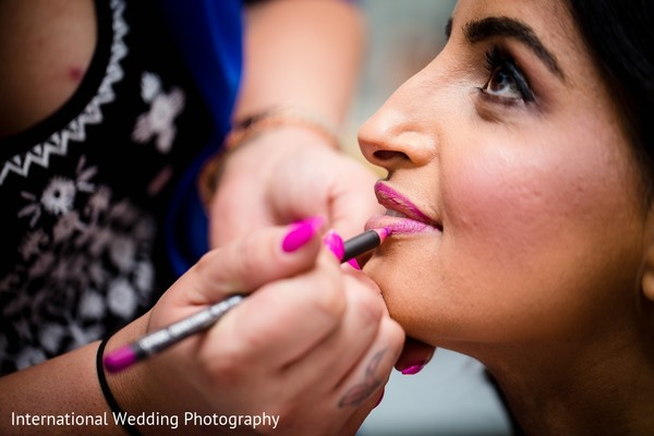 Getting Ready in Sacramento, CA Indian Fusion Wedding by International Wedding Photography