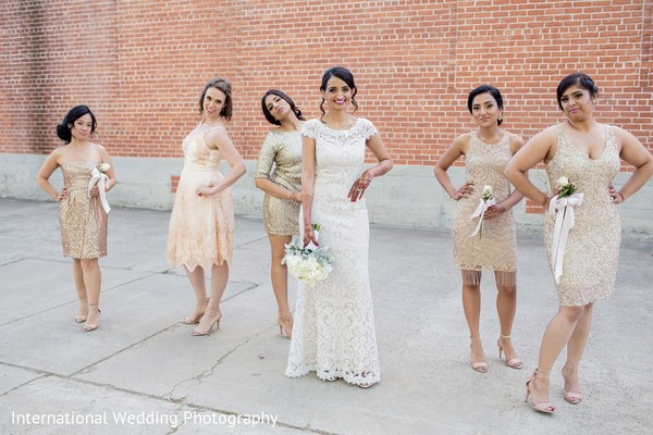 Bridal Party in Sacramento, CA Indian Fusion Wedding by International Wedding Photography