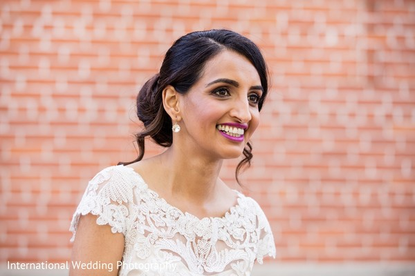 Hair & Makeup in Sacramento, CA Indian Fusion Wedding by International Wedding Photography
