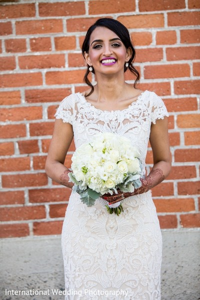 Bridal Portrait in Sacramento, CA Indian Fusion Wedding by International Wedding Photography