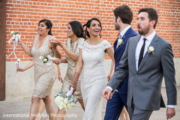 Wedding Party in Sacramento, CA Indian Fusion Wedding by International Wedding Photography