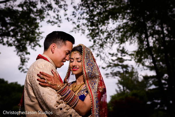 First Look in Potomac, MD Indian Fusion Wedding by ChristopherJason Studios