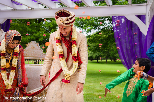 Ceremony in Potomac, MD Indian Fusion Wedding by ChristopherJason Studios