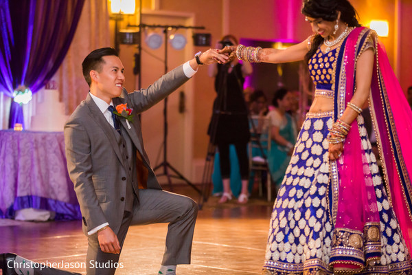 fusion wedding,fusion indian wedding,reception,indian wedding reception,firs dance