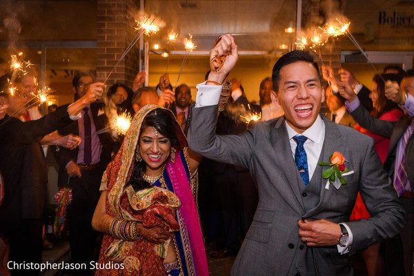 Reception in Potomac, MD Indian Fusion Wedding by ChristopherJason Studios