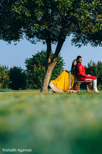 Engagement Portrait in Ludhiana, India Sikh Wedding by Rish Photography