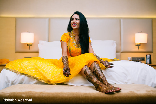 Mehndi Portrait in Ludhiana, India Sikh Wedding by Rish Photography