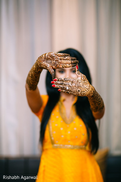 Mehndi in Ludhiana, India Sikh Wedding by Rish Photography