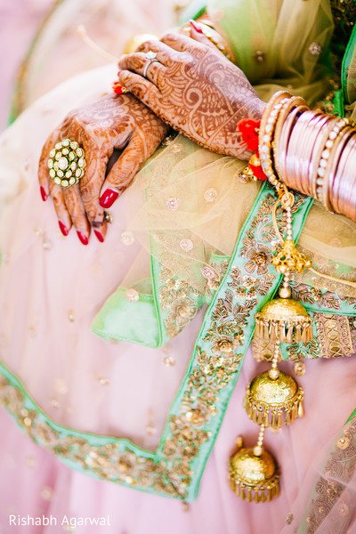 Bridal Details in Ludhiana, India Sikh Wedding by Rish Photography