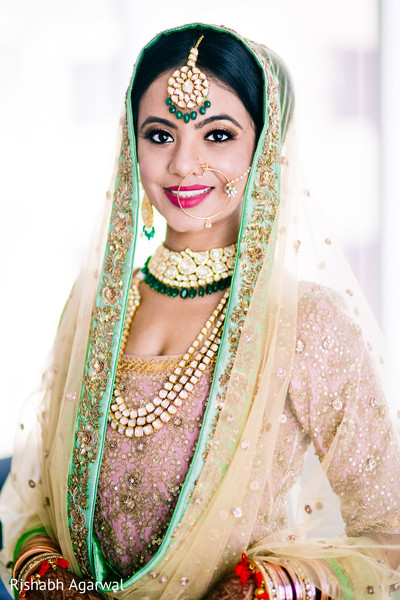 Bridal Portrait in Ludhiana, India Sikh Wedding by Rish Photography