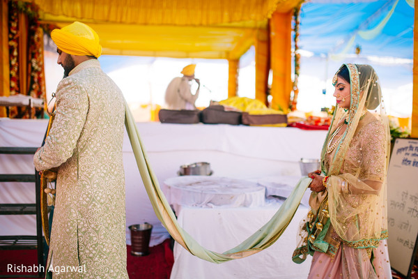 Ceremony in Ludhiana, India Sikh Wedding by Rish Photography