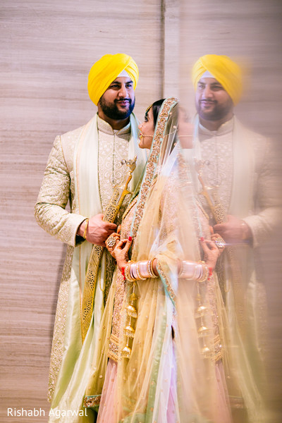 Wedding Portrait in Ludhiana, India Sikh Wedding by Rish Photography