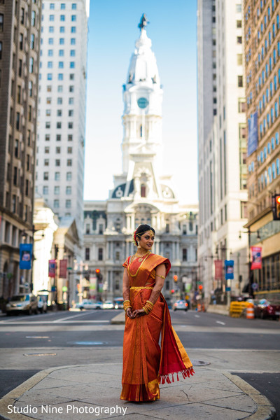 Indian bridal portrait in Philadelphia, PA Indian Fusion Wedding by Studio Nine Photography