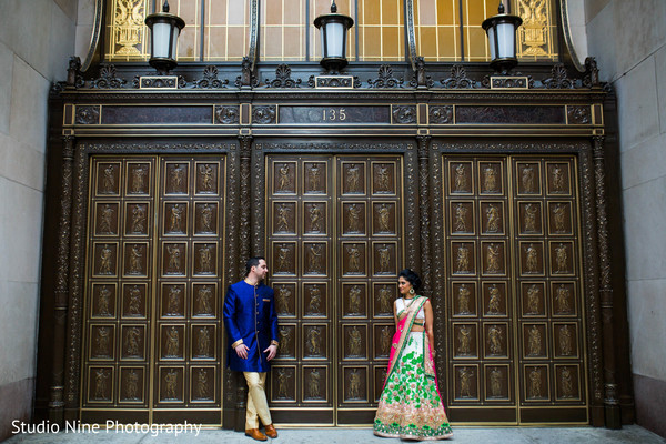Pre wedding portrait in Philadelphia, PA Indian Fusion Wedding by Studio Nine Photography