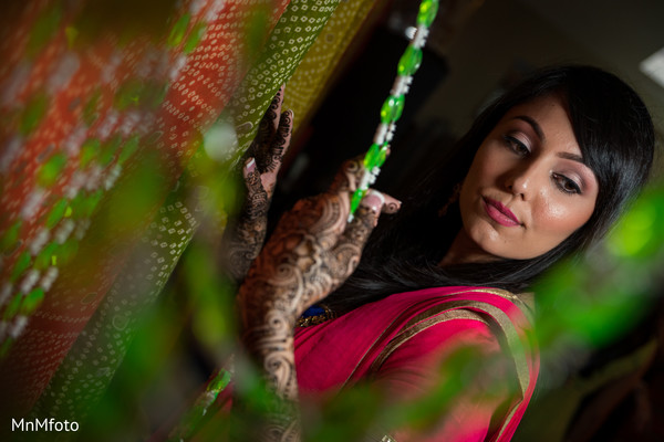 Mehndi Portrait in Sugar Land, TX Indian Wedding by MnMfoto