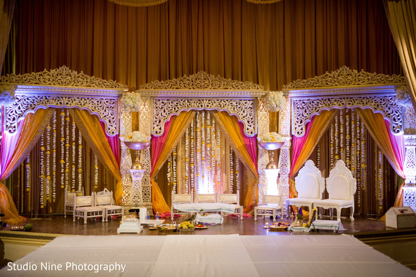 Ceremony decor in Philadelphia, PA Indian Fusion Wedding by Studio Nine Photography