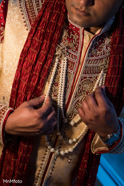 Groom Fashion in Sugar Land, TX Indian Wedding by MnMfoto