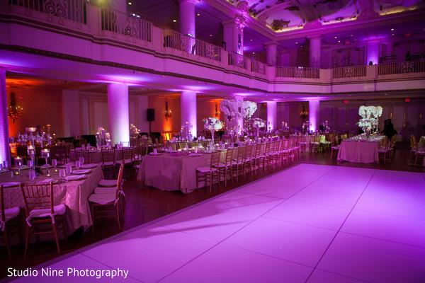 Reception decor in Philadelphia, PA Indian Fusion Wedding by Studio Nine Photography