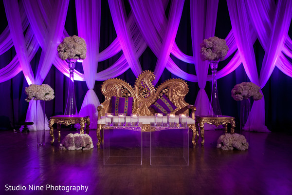 Reception decor in Philadelphia, PA Indian Fusion Wedding by Studio Nine Photography