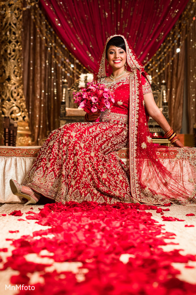 Bridal Fashion in Sugar Land, TX Indian Wedding by MnMfoto