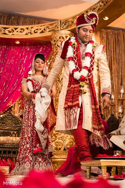 Ceremony in Sugar Land, TX Indian Wedding by MnMfoto
