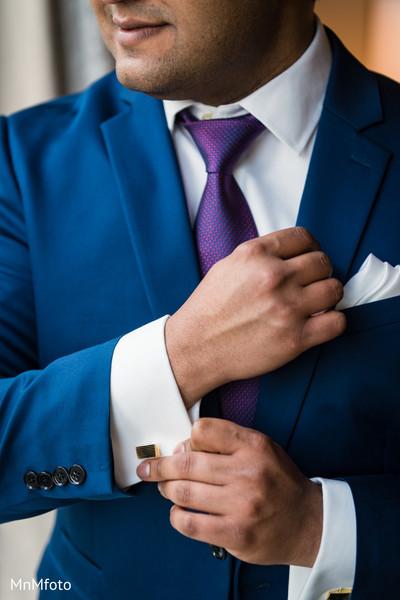 Groom Fashion in Sugar Land, TX Indian Wedding by MnMfoto