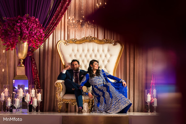 Reception Portrait in Sugar Land, TX Indian Wedding by MnMfoto