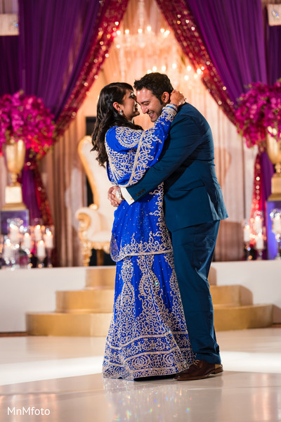 Reception in Sugar Land, TX Indian Wedding by MnMfoto