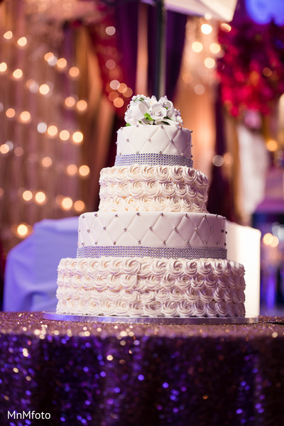 Wedding Cake in Sugar Land, TX Indian Wedding by MnMfoto