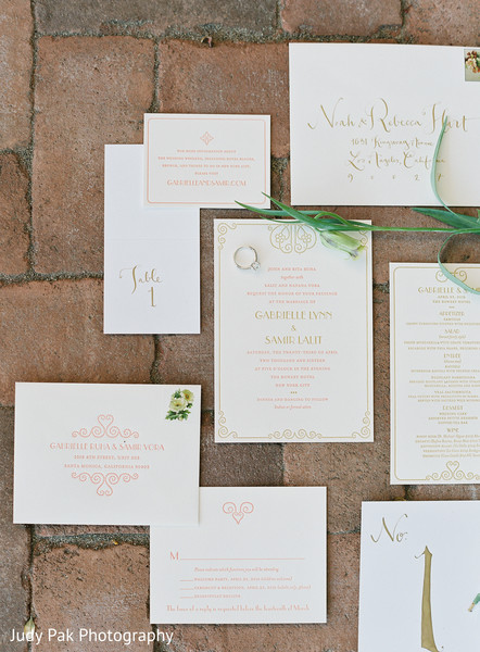 Stationery in New York, NY Indian Fusion Wedding by Judy Pak Photography